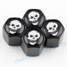Car Truck Wheel Rim Tire Tyre Valve Dust Caps Cover Trim Pirate Skull Head Badge