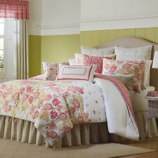 NEW Mary Jane's $365 Home Garden View Comforter Set Queen White Floral MaryJanes