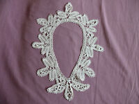 #1735  Beautiful Vintage Hand Made Brussels Lace Colar  32cm/41cm(12.5''x16'')