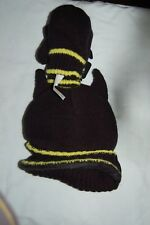 M&S Batman Knitted Peaked Hat and Mittens Black Age 18-36 Months BNWT