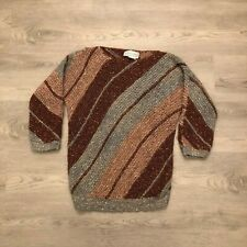 Adrienne Vittadini Womens Acrylic Mohair Wool Blend Knit Sweater Size Large