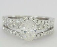 1.84 ct 18K White Gold Oval Brilliant Cut Diamond Engagement Ring GIA F / VS1
