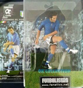 """Soccer Plastic Figure ALESSANDRO DEL PIERO ITALY (h. 6"""") - by Fanatico (sealed)."""