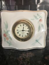 Lenox Manor Quartz Clock Orange Peaches Bedside Table Top Porcelain authentic