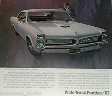 1967 PONTIAC GTO advertisement page, Pontiac GTO 2-door hardtop, with 8-track!