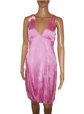 CARLA G Womens Pink Deep Plunge Sexy Party Evening Smart Jersey Dress sz S AD25
