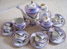 JAPONAIS DRAGON Ware geisha porcelaine TEA-CAFÉ, Set de 15 pièces