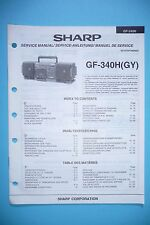 Service-Manual-Instructions pour Sharp GF-340H ,ORIGINAL