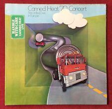Canned Heat/en vivo'70 en concierto-Reino Unido libertad 1st prensa LP EX