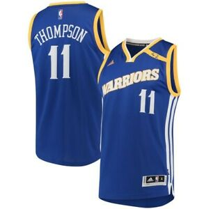 Klay Thompson #11 Golden State Warriors Men's adidas Royal Crossover Jersey