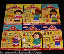 Lot 6 FISHER PRICE Little People WORKBOOKS New PRE-S Kindergarten FIRST Learning