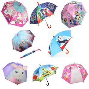 Drizzles Children Kids Fancy Rainbow Striped Plastic Outdoor Umbrella 8 Panel
