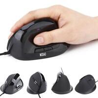 6 Tasten USB Kable optische Vertikale Maus 1200DPI LED Anzeige PC Laptop Mouse