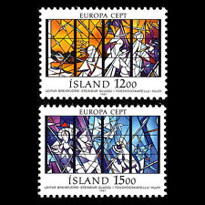 """Iceland 1987 - Europa Stamps """"Modern Architecture"""" - Sc 639/0 MNH"""