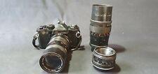 Vintage Camera Memotron Ce 3 And 3 Lens Vivitar - Pentacon - Cosinon