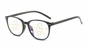 Gleitsichtbrille Lesebrille schwarz +1.0 +1.5 +2.0 +2.5 Dioptrien Anti-Blaulicht