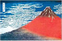 "SOUTH WIND, CLEAR SKY - RED FUJI - HOKUSAI - 91 x 61 cm 36"" x 24"" ART POSTER"