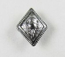 Button Thistle Chrome Diamond shape 24 x19 mm Pack of 6 R1518
