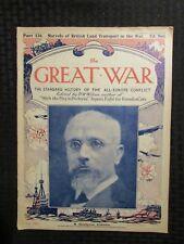 1917 March 24 THE GREAT WAR Newspaper Magazine Part 136 VG+ 4.5 World War WW1