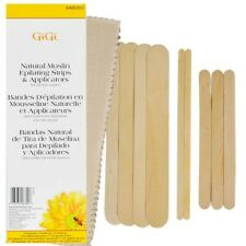 GiGi Natural Muslin Epilating Strips & Applicators For All Soft Waxes Honee