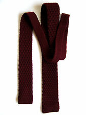 Cravatta Tie Slim VINTAGE 80 PURA LANA 100%  PURE WOOL MADE IN ITALY ORIGINALE