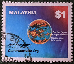 Stamp Malaysia SG259 1983 $1 Commonwealth Day Used