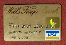 Wells Fargo Bank Gold Visa credit card exp 1998â—‡free shipâ—‡cc1762