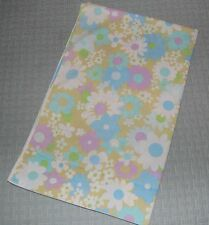 Vintage Fieldcrest Perfection Mod Pastel Flower Print FULL Flat Sheet