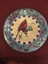 "NEW LENOX Winter Greetings Everyday CARDINAL DINNER PLATE 10-3/4"""