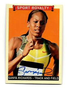 2008 Goudey Sport Royalty Authentic Autograph Sanya Richards Olympic Gold Medal