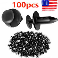 100pcs Plastic Fender Clips Body Rivets for HONDA Arctic Cat Suzuki Yamaha