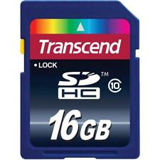 Transcend 16GB SDHC Class 10 Flash Memory Card (TS16GSDHC10)