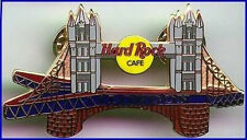 "Hard Rock Cafe LONDON 2002 TOWER BRIDGE on Flying ""V"" Guitar PIN Catalog #15308"