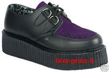 creepers scarpe viola dark gothic rock punk metal emo