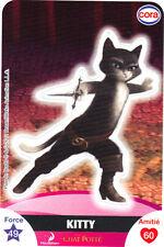 Vignette de collection autocollante CORA Dreamworks n° 97/112 - KITTY (5580)
