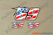 PEGATINA STICKER VINILO Nicky Hayden 69 ref2 USA autocollant aufkleber adesivi