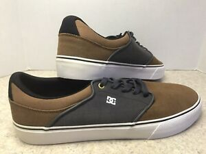 DC Mens Mikey Taylor Vulc Skate Shoes Gray & Brown ADYS300132 Lace Up Low Top 13