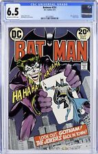 Batman #251 (Sep 1973, DC) Classic Joker Cover! OW-White Pages! CGC 6.5