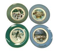 Set of 4 AVON Vintage Christmas Plates - 1975, 1977, 1978, 1979 - EUC