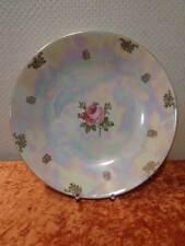 GDR Kahla XL Size Porcelain Bowl - Pearlescent - Rose - Vintage - 12 5/8in