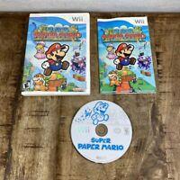Super Paper Mario Complete In Box (Nintendo Wii, 2007) CIB