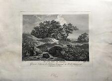 DUPRE KUPFERSTICH #2 - LANDSCHAFT BEI DRESDEN - JACOB PHILIPP HACKERT UM 1800