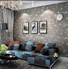 Retro Grey White Wash Industrial loft effect cement wall look Wallpaper 10M Roll