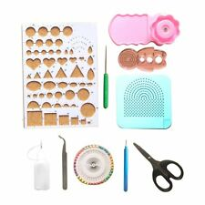 Lantee 16 Sets of Quilling Paper Kits - 6 Pack of Strips and 10 Quilling Tools
