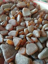 GENUINE BEACH GLASS SEA GLASS NATURALLY SURF Tumbled Brown /Amber 1lb