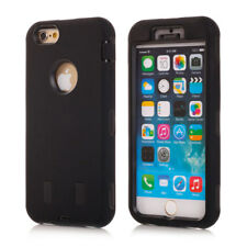 "Apple iPhone 6 6s 4.7"" outdoor case silicona defender funda protectora negro Plug"