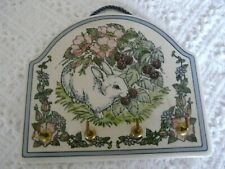 SANTA BARBARA CERAMIC DESIGN Key Holder Colorful Fruit Floral Rabbit Hanger