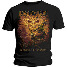 Iron Maiden T Shirt Ghost of The Navigator Official Mens Eddie Legacy Beast XL