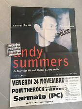 Andy Summers 100x67 Promo Poster Live Tour The Police cd Not Included Rare Italy