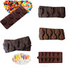 5 Shapes Cake Lollipop Moulds Candy Cookies Chocolate Baking Mold Silicone